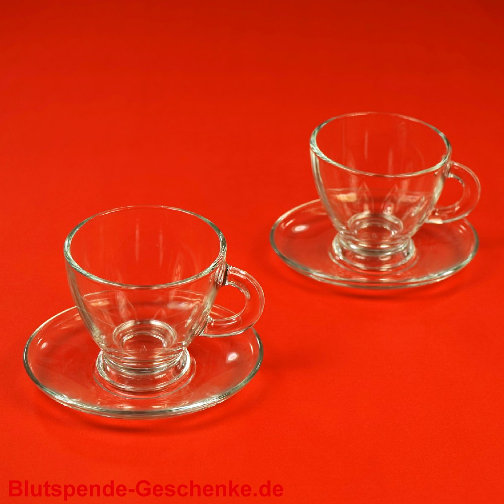 blutspendegeschenk glas cappuccino tassen 2er set. Black Bedroom Furniture Sets. Home Design Ideas